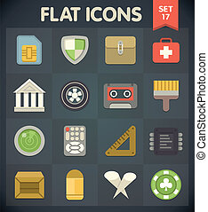 Universal Flat Icons Set 17 - Universal Flat Icons for Web...
