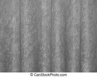 Gray Waved Backdrop - Heavy Creased Gray Cotton Muslin...