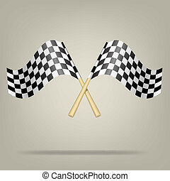 Checkered Racing Flags. Vector - Vector illustration EPS10....