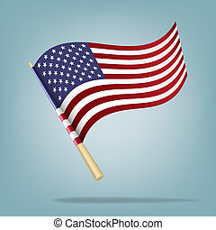 American flag. Vector illustration - Vector illustration...