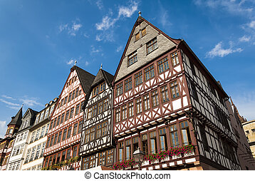 Frankfurt central square - View of Frankfurt historical...