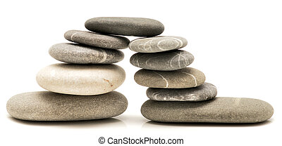 pebble bridge isolated on white background