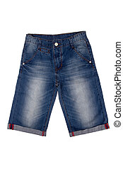 jeans bridges - New mans dark blue jeans bridges on a white...