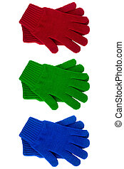 knitted gloves various color - Knitted gloves various colors...