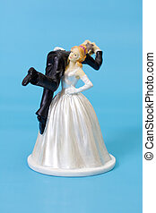 Funny wedding cake topper - Bride and groom cake topper on...
