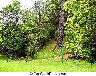 Playground in Park - Empty playground in Dunedin, New...