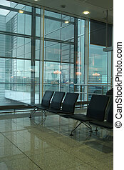 departure lounge at the munich airport