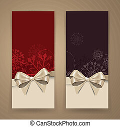 Vector Christmas Banners - Vector Illustration of Two...