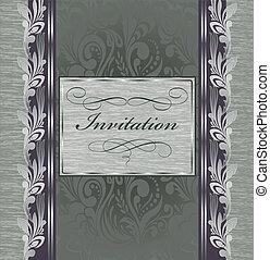 Beautiful vintage invitation