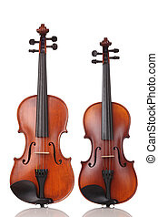 Violins - Two Violins on white background