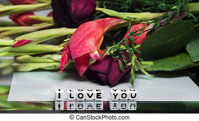 I love you with flowers