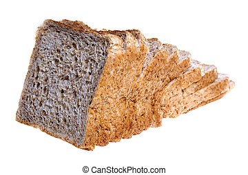 Wholemeal Loaf of Bread - Isolated image of wholemeal sliced...