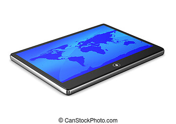 tablet on white background Isolated 3D image