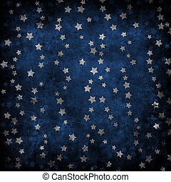 Abstract background - Abstract blue background with stars