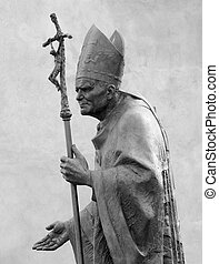 Sculpture of Pope John Paul II by Zemla Blessed John Paul or...