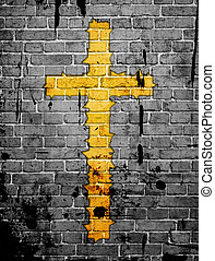 grunge background with cross and spots