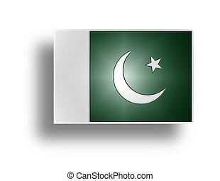 Flag of Pakistan stylized I - National flag of Islamic...