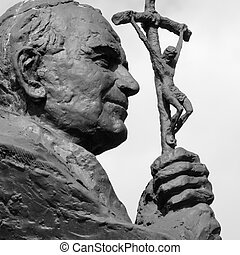 Sculpture of Pope John Paul II Blessed John Paul or John...