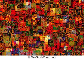 Fantasy Jungle - Abstract artwork made out of cirka 150...