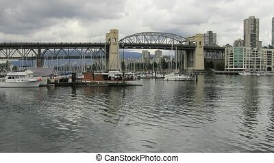 Vancouver BC Cambie Bridge 1080p - Vancouver BC Canada with...