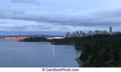 Vancouver BC Canada City Skyline