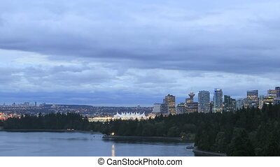 Vancouver BC Canada City Skyline - View of Vancouver BC...