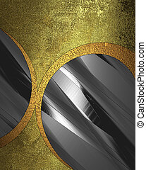 Old golden grunge texture with metal circle inserts