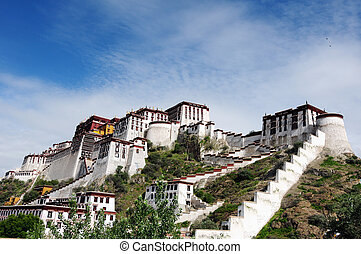 Potala Palace in Tibet - Landmark of the famous Potala...
