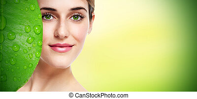 Beautiful woman portrait - Beautiful young girl portrait...