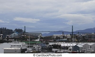 Lions Gate Bridge in Vancouver BC - Lions Gate Bridge over...