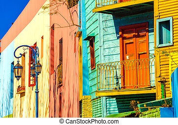 Buenos Aires Colors - Bright colors of Caminito in La Boca...