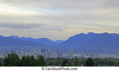 Vancouver BC Canada Time Lapse - Nature Landscape and Urban...