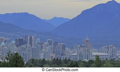 Vancouver BC Cityscape and Mountain - Nature Landscape and...