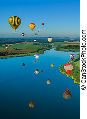 Mondial hot Air Ballon reunion in Lorraine France -...