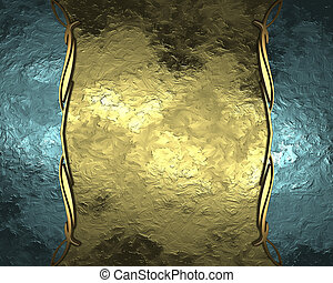 Golden background with blue edged with gold trim