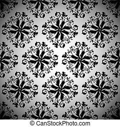 black wallpaper repeat - Black repeating seamless design...
