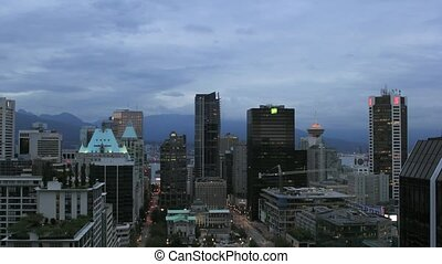 Blue Hour Over Vancouver City 1080p
