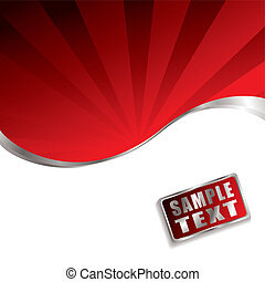 red radiate bevel - Bright red background with radiating...