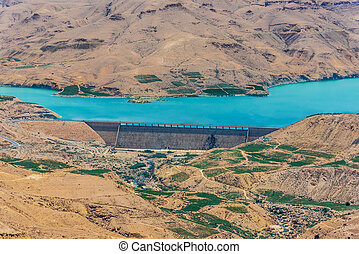 Wadi El Mujib Dam and Lake, Jordan - Wadi El Mujib Dam and...