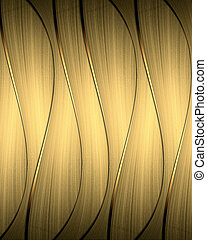 Abstract gold striped background with gold trim