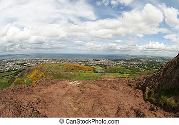 View from Arthur's Seat, Edinburgh - Arthur's Seat is the...