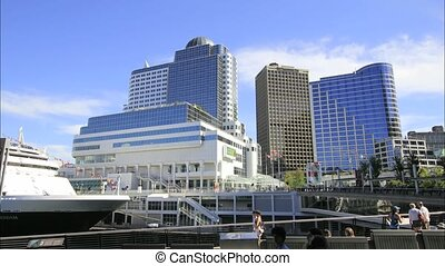 Canada Place in Vancouver BC 1080p - Busy Downtown Canada...