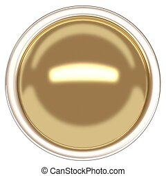Gold sphere and ring. Gold button