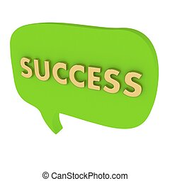 For the speech bubble with the word Success