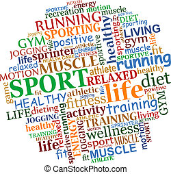 Sports tag cloud
