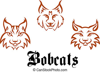 Bobcats and lynxs for mascot or tattoo design