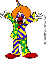 Circus clown in cartoon style for design