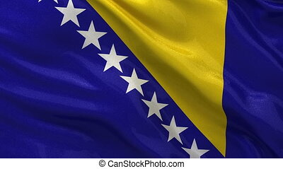 Flag of Bosnia and Herzegovina loop - Seamless loop of flag...