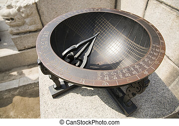 Ancient sundial in Gyeongbokgung palace,Seoul,Korea