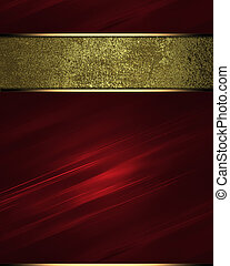 Red texture c gold nameplate Design template